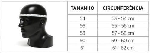 Tabela Medidas Capacete LS2 FF353 Rapid