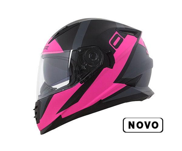 CAPACETE NORISK FF302 RIDIC ROSA/PRETO FOSCO
