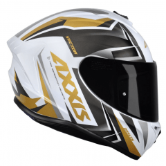 CAPACETE AXXIS DRAKEN VECTOR GLOSS WHITE/GOLD