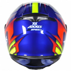 CAPACETE AXXIS EAGLE SPEED GLOSS AZUL/AMARELO