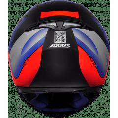 CAPACETE AXXIS EAGLE TECNO MATT BLACK/RED/BLUE
