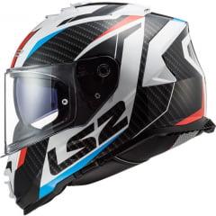 CAPACETE LS2 FF800 STORM RACER AZUL/VERMELHO