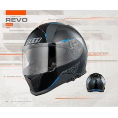 CAPACETE X11 REVO SV AZUL