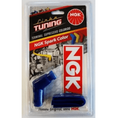 CACHIMBO DE VELA NGK COLOR TITAN FAN 125/150 E BROS 150 AZUL TUNNING