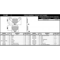 PASTILHA FISCHER DIANTEIRA SEMI METALLIC FJ1290SM AGRALE/AMAZONAS/DAFRA/KASINSKI/KAWASAKI/SUNDOWN/SUZUKI
