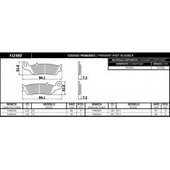 PASTILHA FISCHER DIANTEIRA ARAMID FJ2380K YAMAHA