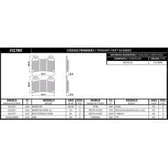 PASTILHA FISCHER DIANTEIRA METALLIC FJ1760M YAMAHA/SUZUKI/KTM/DUCATI
