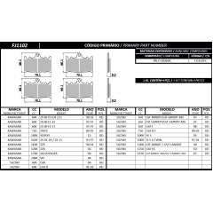 PASTILHA FISCHER DIANTEIRA PRO-CERAMIC FJ1102PC KAWASAKI/SUZUKI 01 JOGO COM 04 PEÇAS